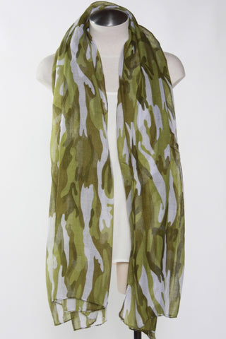 Camo Print Scarf-Green Second