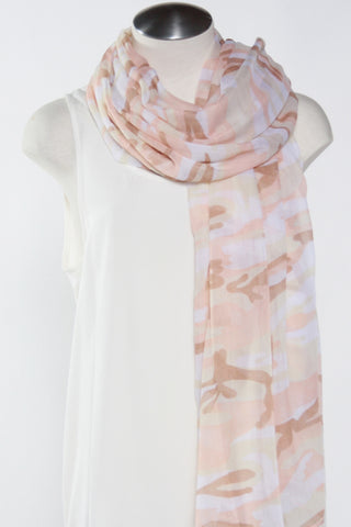 Camo Scarf-Beige Second