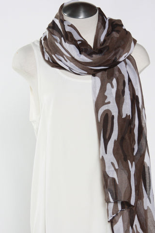 Camo Print Scarf-Black Second