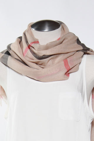 Beige Plaid Scarf Second