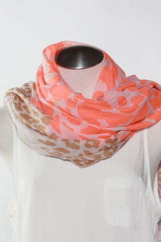 Spotted Animal Print Scarf-Orange