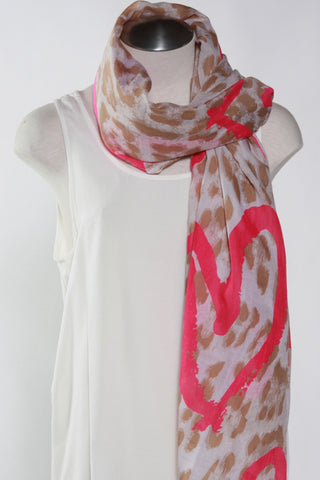 Cheetah Scarf-Neon Pink Second