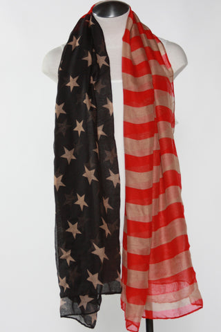 American Flag Scarf-Vintage Second