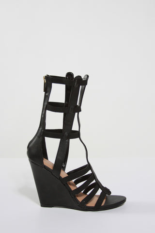 Strappy Gladiator Wedge Sandals Second