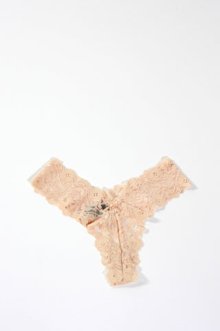 Lace Thong-Nude