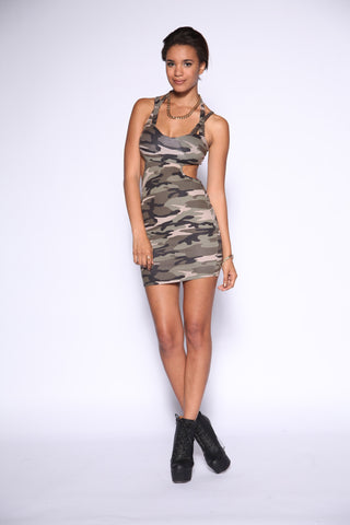 Camo Bodycon Dress Second