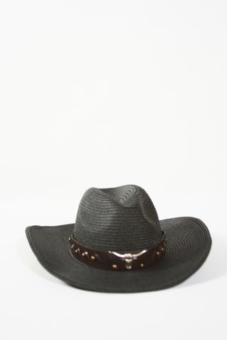 Coachella Cowboy Hat-Black Second