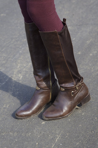 Leather Riding Boots - Brown Second