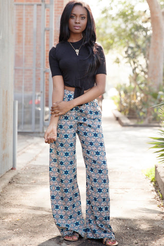 Floral Print Palazzo Pants Second