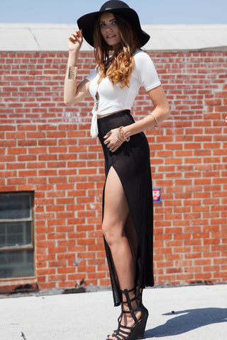 Maxi Skirt with Two slits Second