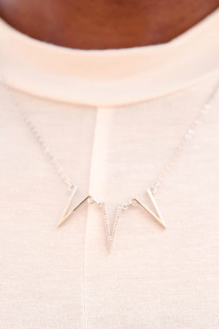1 - Starstruck Triple Triangle Necklace Second