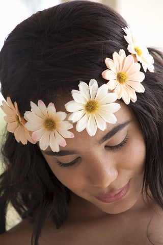 Peach Daisy Hairband Second