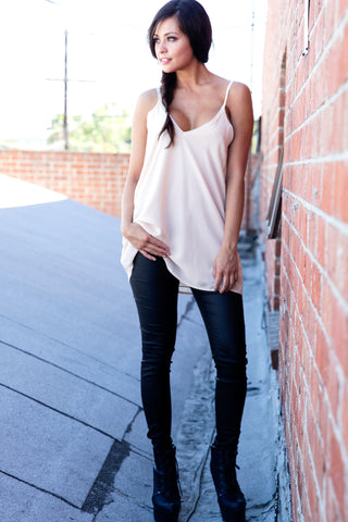 Lace Adjustable Strappy Slip-on Top with Pockets Second