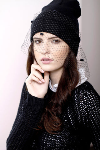 Lace Veil Beanie Second