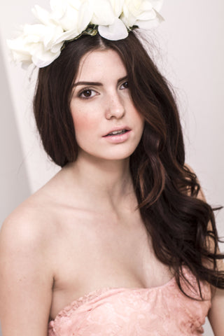 Rose Goddess Flower Crown-White
