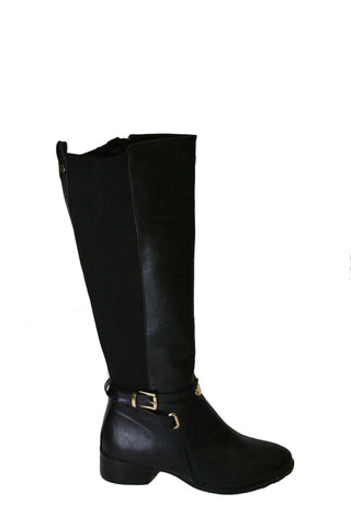 Leather Riding Boots-Black Second