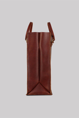 The Big Box Tote | Leather | Brown