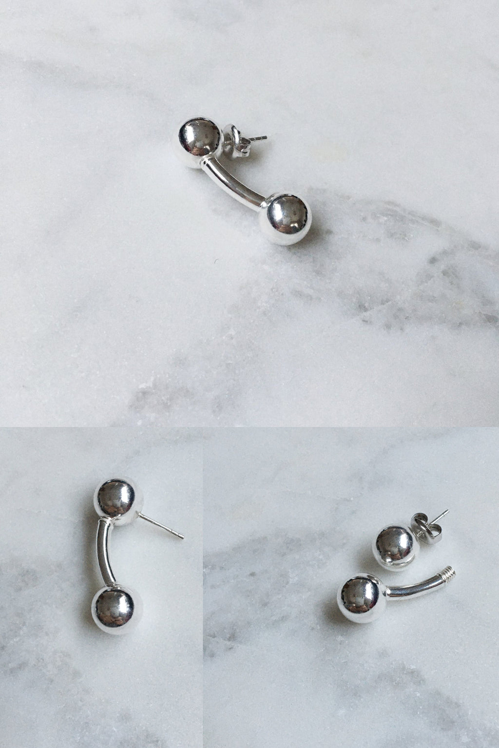 3 Way Ball Bar Stud | Sterling Silver