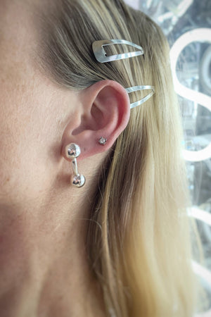 3 Way Ball Bar Stud | Sterling Silver | One Size