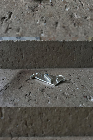 Intersection Earring Single | Recycled Sterling Silver + Lab Grown Diamond