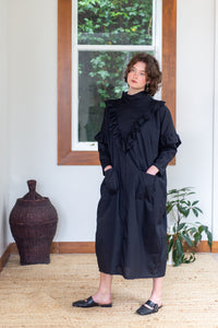 Tsukiyo Long | Cotton | Black