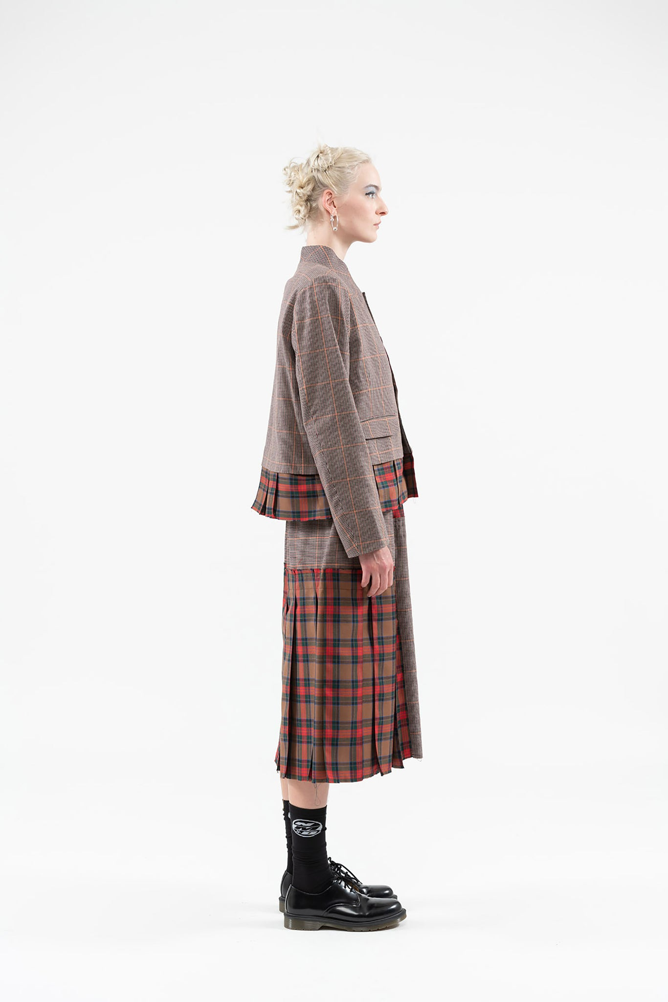 Crossline Jacket | Wool Cupro | Tartan