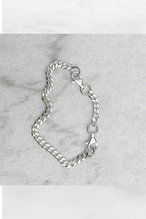 Charlie Chain Wrist Piece | Sterling Silver
