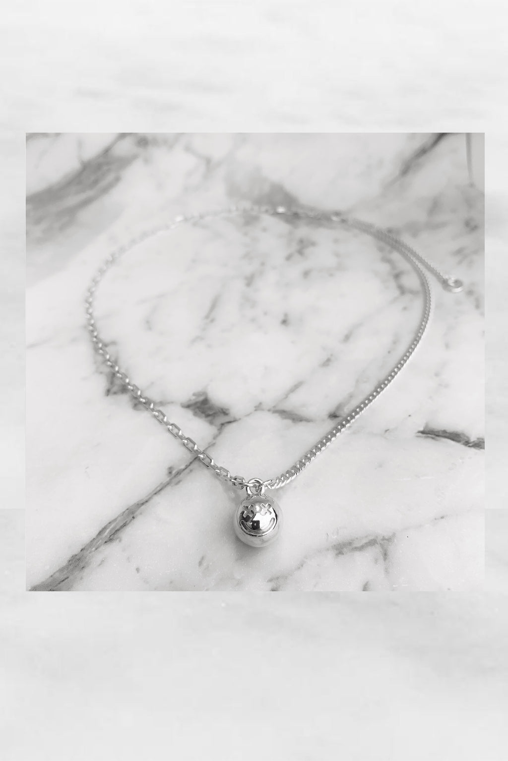 2020 Vision Smiley Neck Piece | Sterling Silver