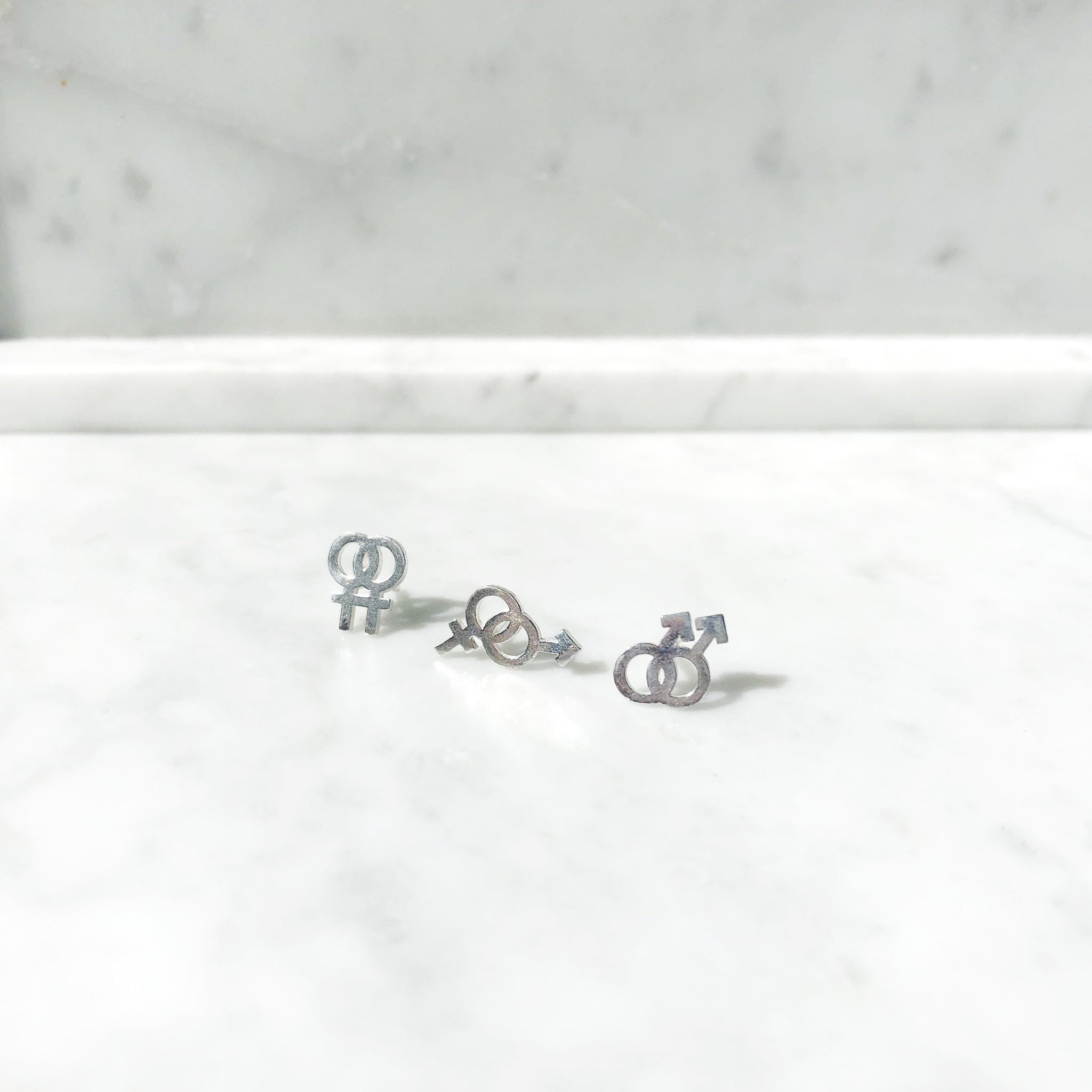 Boy On Boy Stud | Sterling Silver