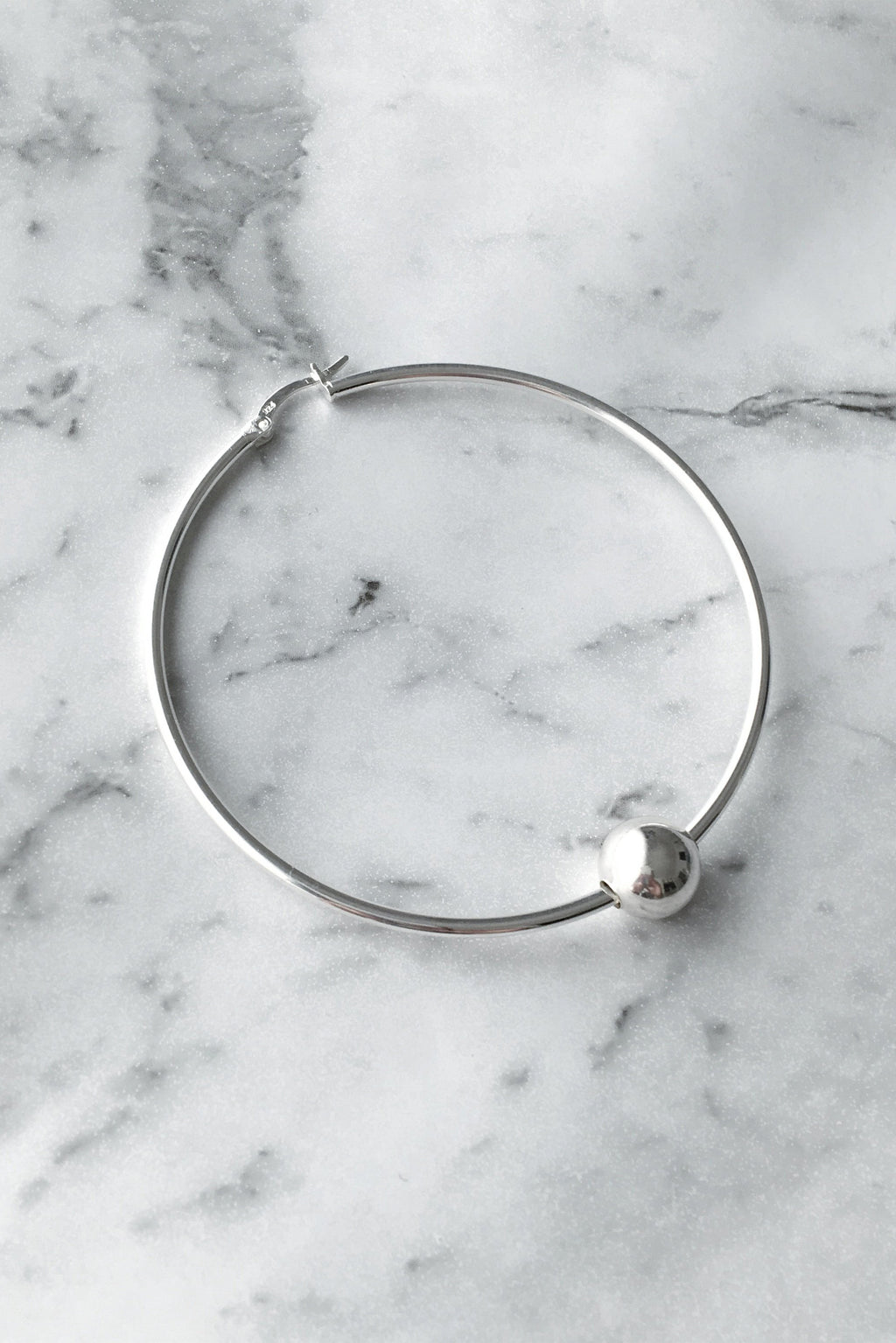 Liam Howlett Hoop |  Extra Large | Sterling Silver