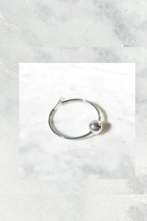 Liam Howlett Hoop Medium | Sterling Silver