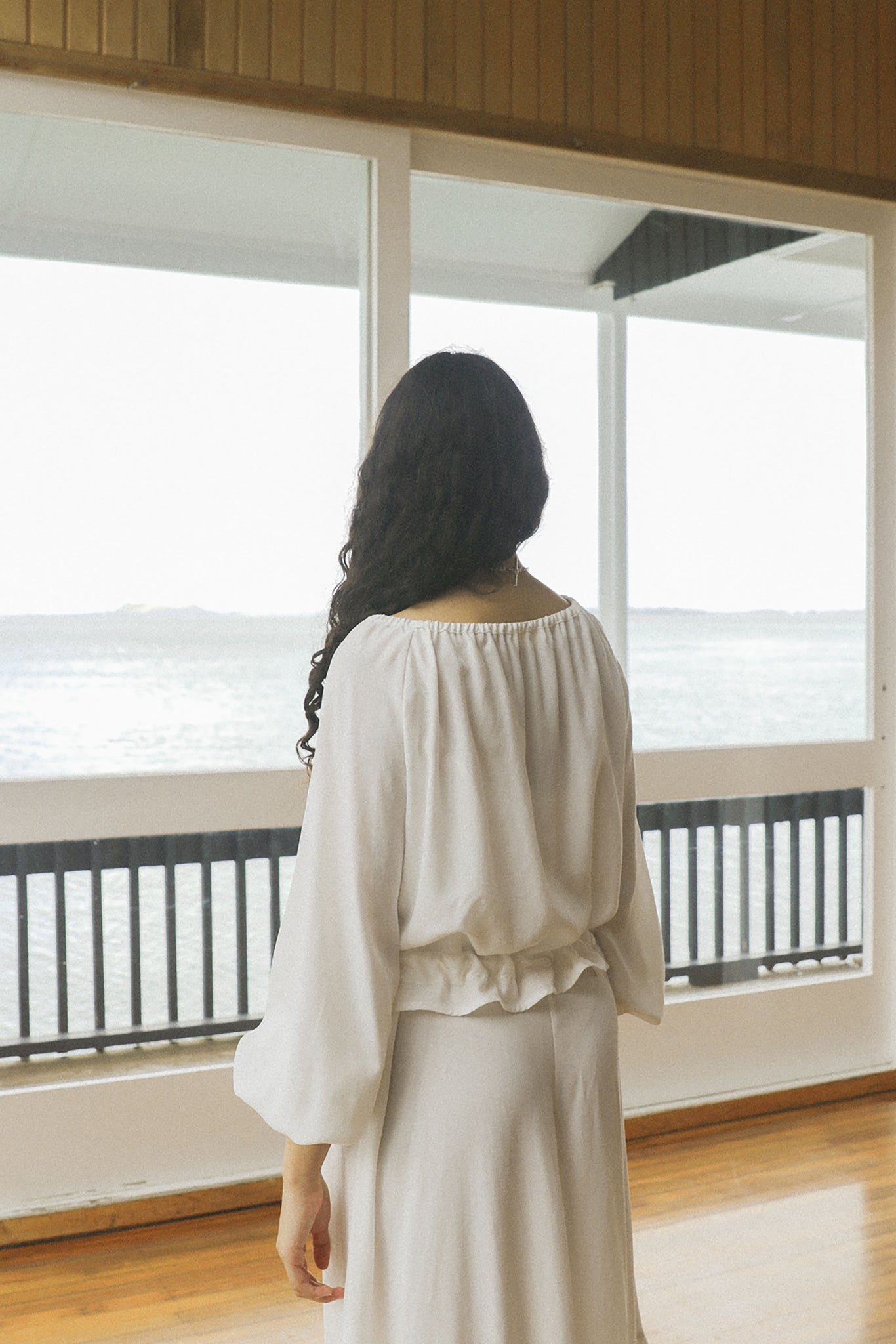 Isadora Blouse | Tencel | Ice White