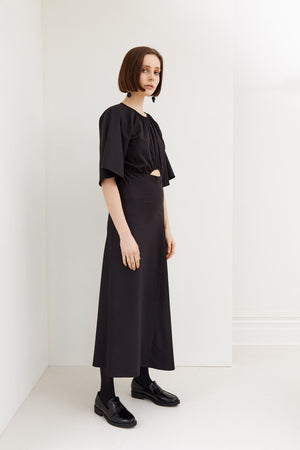 Preservation Dress | Cotton Suiting | Black