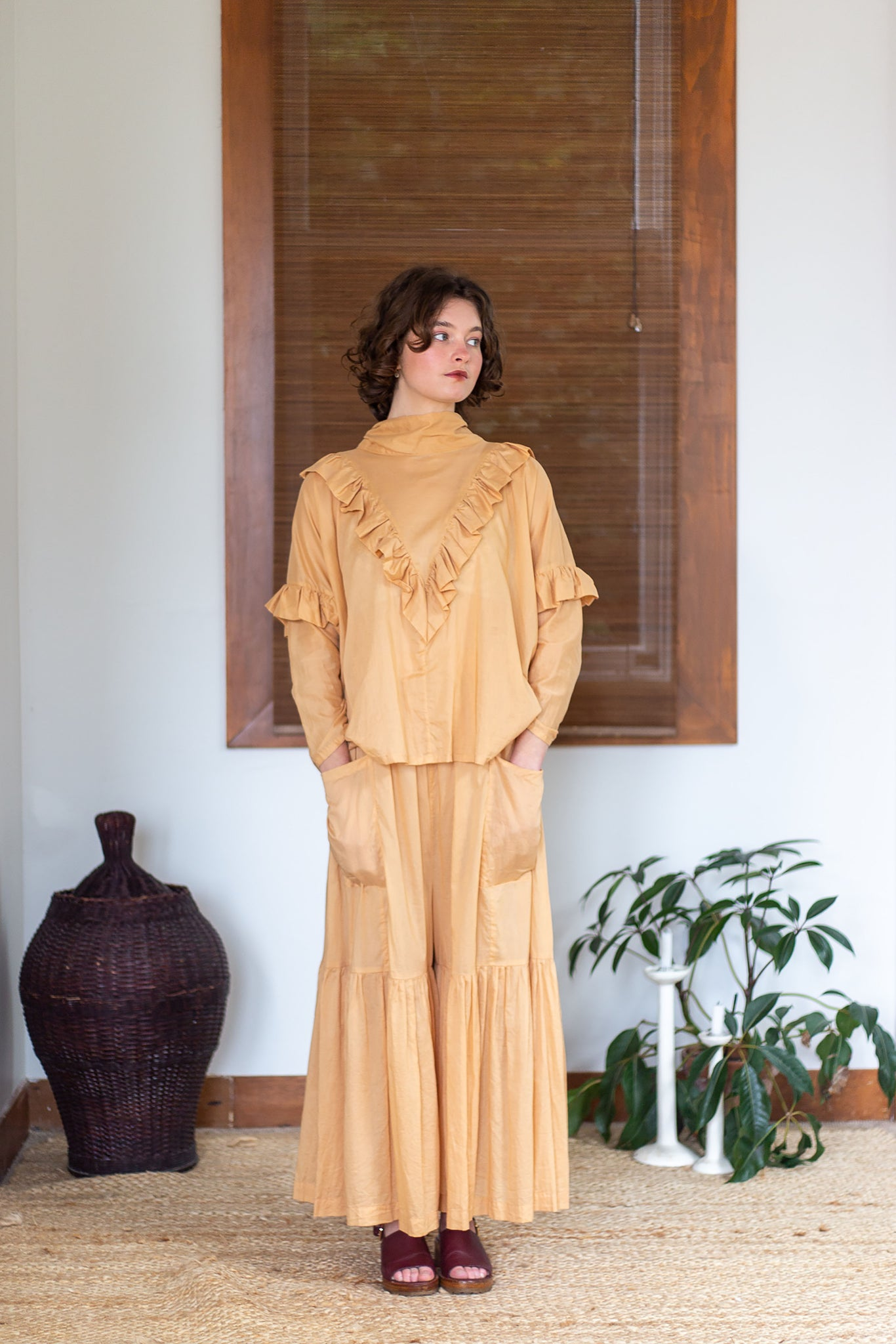 Tsukiyo Long | Cotton | Tan