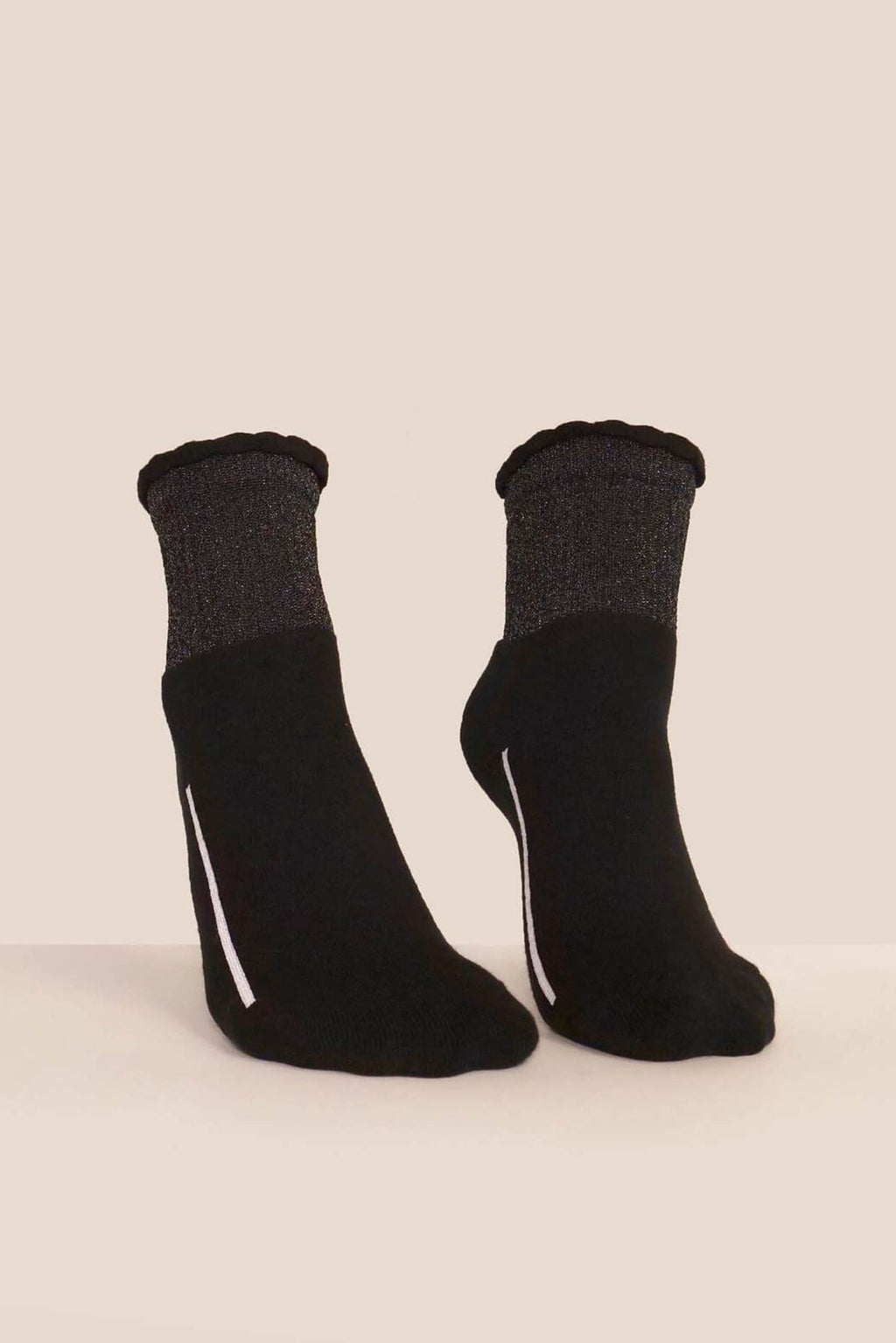Socks | Cotton Lurex | Black Sparkle