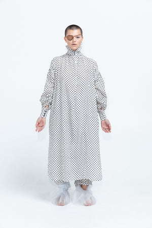 Hidden Circle Shirt Dress | Silk Cotton