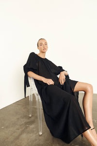 Etheral Dress | Triacetate | Black