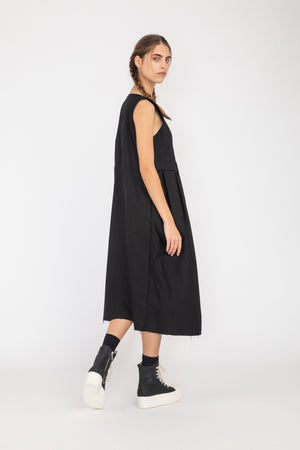 Framework Dress | Cotton Spandex | Black