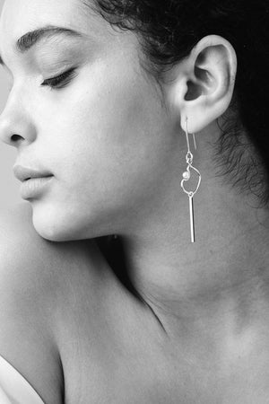 Clio Drop Earrings Small | Sterling Silver