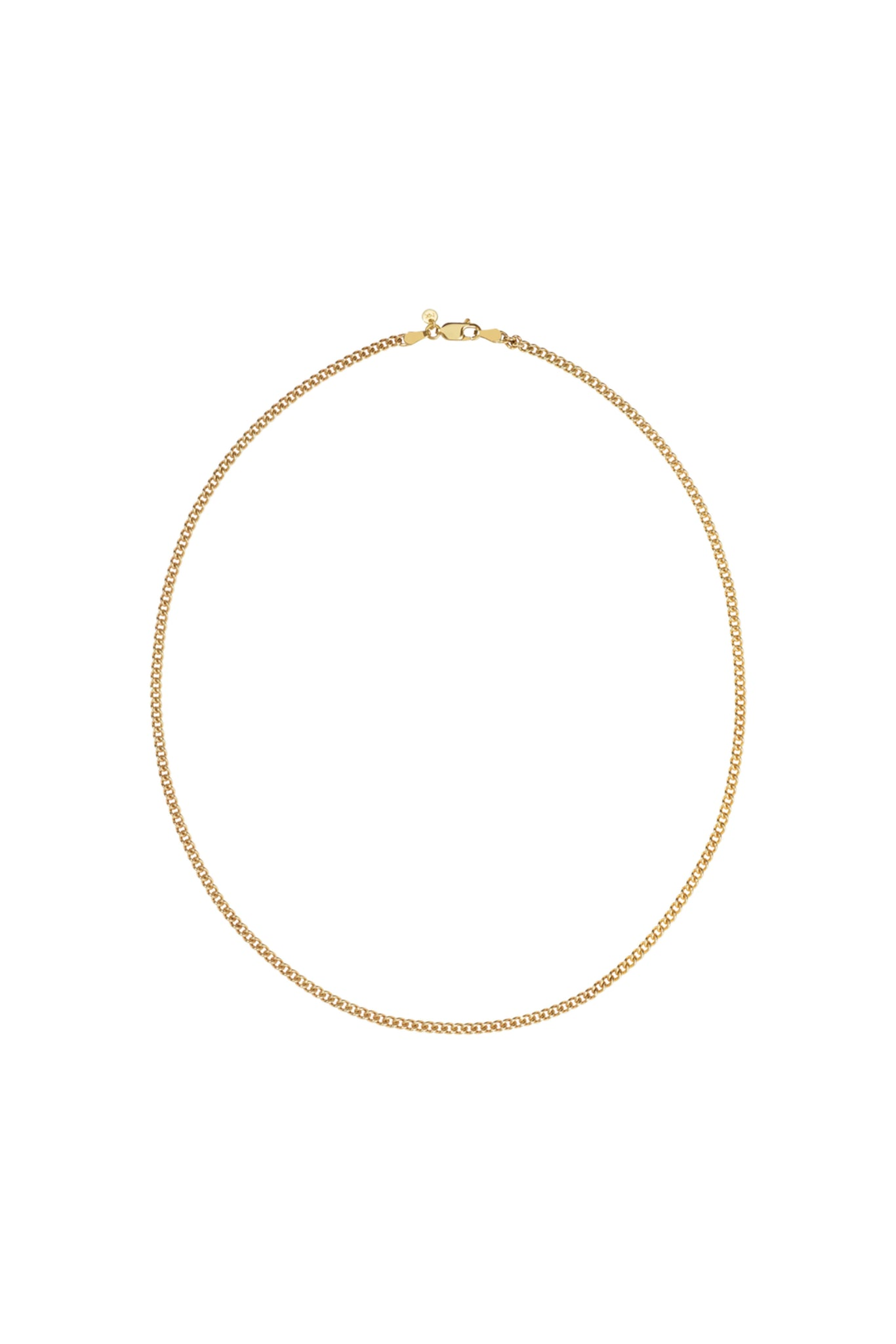 Curb Chain Necklace | 40cm | Gold Plated