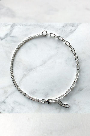 2 Chain Choker | Sterling Silver