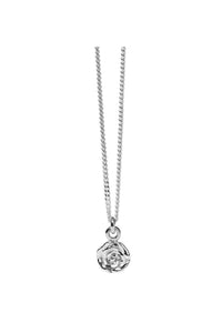 Rose Charm Necklace | Sterling Silver