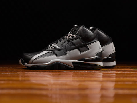 info for 8c817 a879d Seen here in a black and grey colorway that odes to the Oakland Raiders,  the Nike Air Trainer SC High has returned several times since its original  release ...