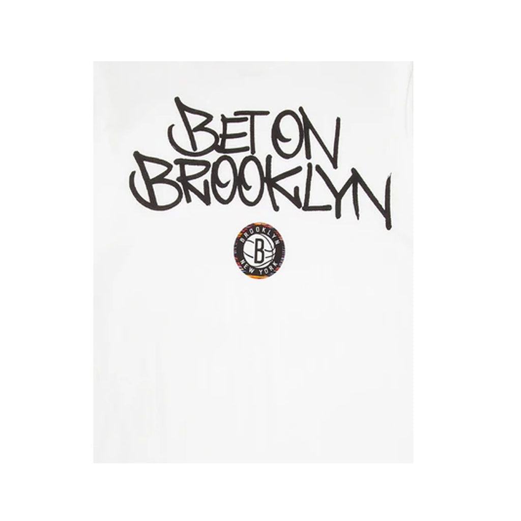 Nike Men's NBA Brooklyn Nets 'Bet on Brooklyn' White S/S T-Shirt