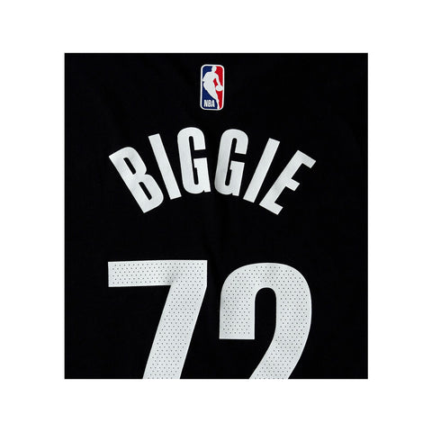 Nike Men's NBA Brooklyn Nets Biggie Smalls S/S Black T-Shirt