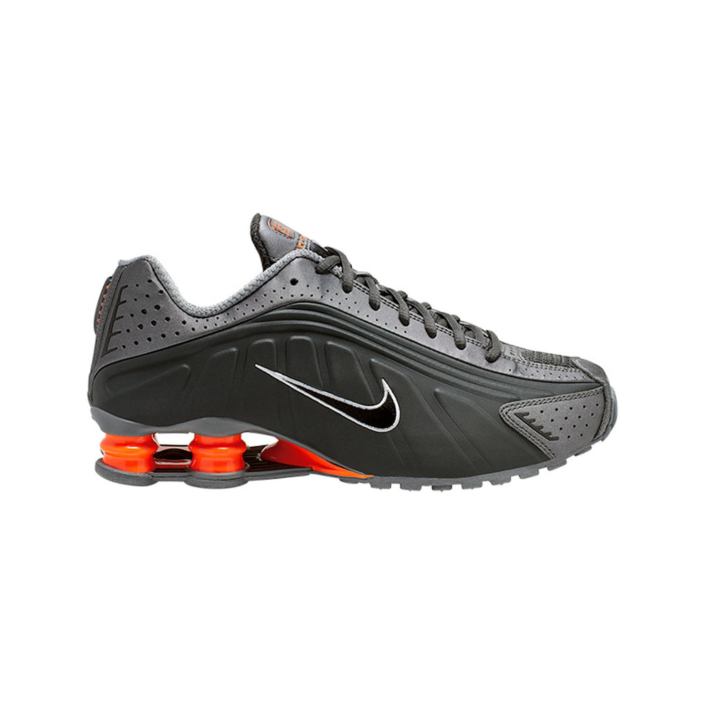 Nike Men's Shox R4 Anthracite Total Orange - KickzStore