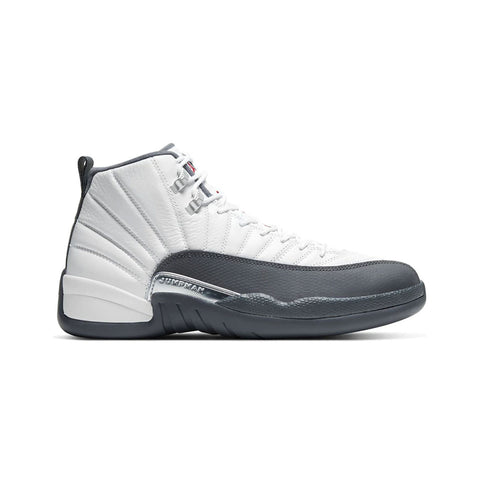 Air Jordan Men's 12 XII Retro White Dark Grey
