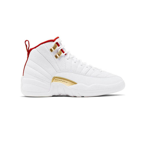 Air Jordan Kid's 12 XII Retro GS FIBA 2019 White  Red Basketball Shoes