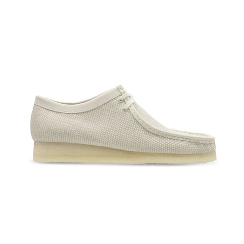 Clarks Originals Men's Wallabee Off White Textile
