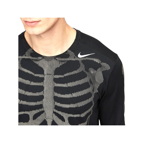 Nike NRG Skeleton Reflective 3M Black Dri-Fit Running Shirt